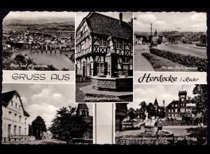 AK Herdecke Ruhr Mehrbildkarte 1961 (6965