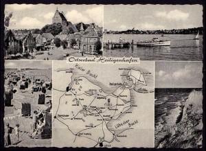AK Heiligenhafen Ostseebad Mehrbildkarte 1962 (6967