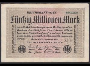Reichsbanknote - 50 Millionen Mark 1923 Ro 108f F (4) FZ A Sigma AΣ-61 (27222