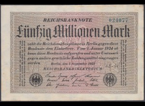 Reichsbanknote - 50 Millionen Mark 1923 Ro 108f VF (3) FZ A Sigma AΣ-54 (27224