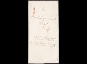 Baden - 1839 Brief STOCKACH L1r nach Unterlaufing taxiert mit Inhalt (27166