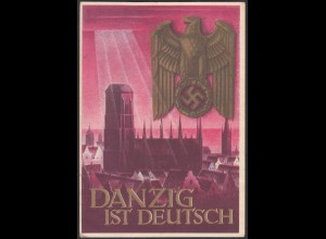 Germany Propaganda Card 1939 WW2 Danzig is German (27196