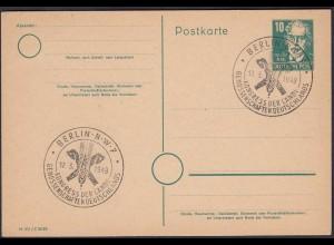 DDR P35 Aug. Bebel 10 Pfg. Ganzsache mit SST BERLIN N-W-7 Landwirtschaft (27200