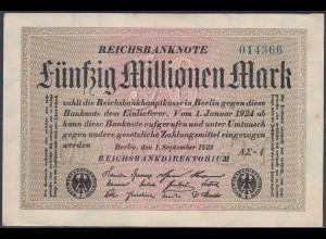 Reichsbanknote - 50 Millionen Mark 1923 Ro 108f VF- (3-) FZ A Sigma AΣ-4 (27247