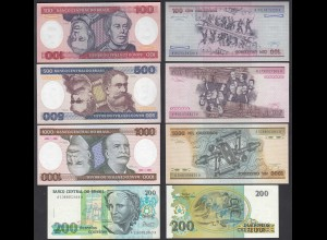 Brasilien - Brazil 4 Stück Banknoten 100,200,500,1000 Cruzeiros aUNC (1-) (26806