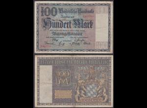 Bayern - 100 Mark 1922 Bayerische Notenbank Ro BAY4 (26982