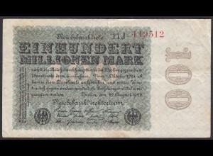 Reichsbanknote - 100 Million Mark 1923 Ro 106h FZ: J - BZ: 11 (27243