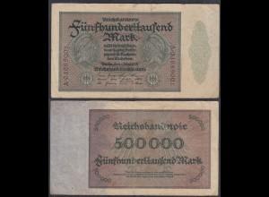 Reichsbanknote - 500 Tausend Mark 1923 Ro 87d F (4) Serie A (27250