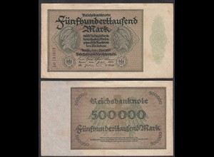 Reichsbanknote - 500 Tausend Mark 1923 Ro 87f F+ (4+) FZ: Z BZ: 5 (27256
