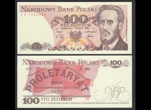 Polen - Poland 100 Zlotych Banknote 1988 Pick 143e UNC (1) (27264