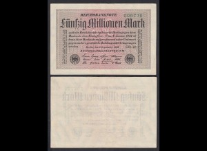 Germany 50 Million Mark Infla 1923 FZ GD Ro 108e Pick 109e XF (2) (27265