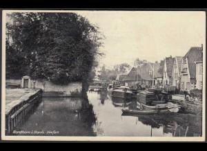 Ak Nordhorn i.Hann. 1937 Hafen mit Schiffen gelaufen aus Schüttorf (23561