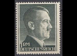 Germany Third Reich WW2 1 Mark Adolf Hitler HEAD 1944 MNH (19570