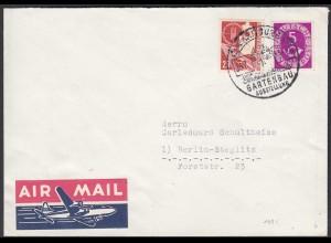 BRD BUND 1953 Mi.169 + 125 auf Brief Hamburg n. Steglitz (23540