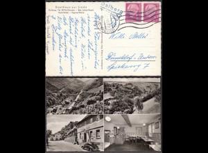 Ak 1957 Gasthaus zur Linde mit Landpost Dalberg über Kreuznach (23543