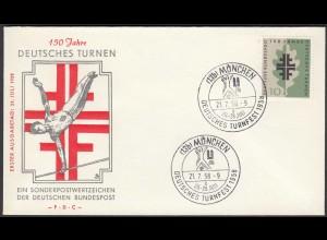 Germany BRD Bund 1958 Mi. 292 FDC 150 Jahre Deutsches Turnfest (23509