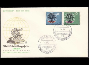 Germany BRD Bund 1960 FDC Mi. 326-327 Weltflüchtlingsjahr (23513