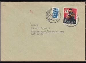 BRD Bund 1953 Einzelfrankatur 20 Pfg. Unfall-Verhütung Mi. 162 (23533