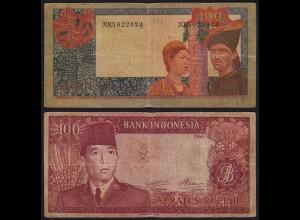 Indonesien - Indonesia 100 Rupiah 1960 Pick 86a VG (5) (21456