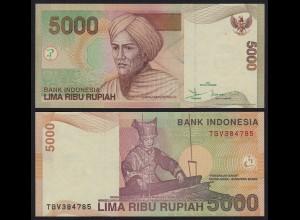 Indonesien - Indonesia 5000 5.000 Rupiah 2001/2007 Pick 142g UNC (1) (21489