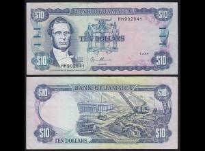 JAMAIKA - JAMAICA 10 Dollars Banknote 1994 Pick 71e VF (3) (21517