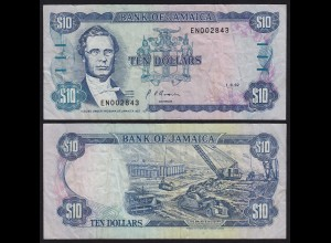 JAMAIKA - JAMAICA 10 Dollars Banknote 1992 Pick 71d F (4) (21520