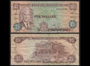 JAMAIKA - JAMAICA 5 Dollars Banknote 1985 Pick 70a F- (4-) (21529
