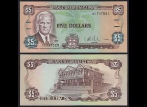 JAMAIKA - JAMAICA 5 Dollars Banknote 1985 Pick 70a UNC (1) (21530