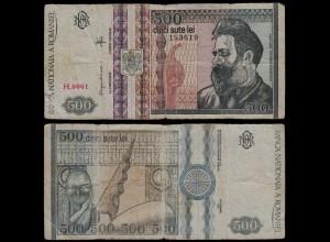Rumänien - Romania 500 Lei Banknote 1992 Pick 101 F (4) (21088