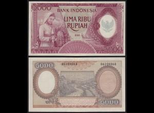 Indonesien - Indonesia 5000 5.000 Rupiah 1958 Pick 64 UNC (1) (21174