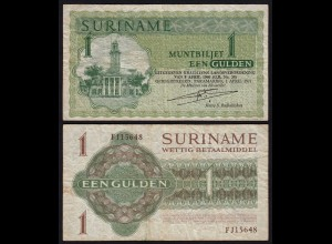 SURINAM - SURINAME 1 Gulden 1971 Pick 116b F (4) (21180