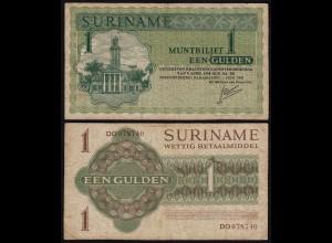 SURINAM - SURINAME 1 Gulden 1967 Pick 116a F (4) (21181