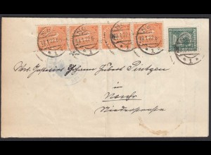 Amtsgericht Neuss Dienstbrief 1922 MIF Mi.D 16 + 20 (4) (21699