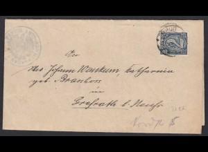 Amtsgericht Neuss Dienstbrief 1922 EF Mi.D 32 nach Grefrath Ladung (21700