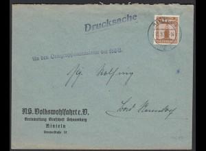 NS VOLKSWOHLFAHRT RINTELN Dienstbrief 1939 EF Mi.D 145 (21709