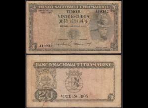 Portugal - 20 Escudos Banknote 1967 Pick 26 VG (5) (14842