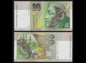 SLOWAKEI - SLOVAKIA 20 Korun Banknoten 2001 Pick 20e UNC (1) (21215