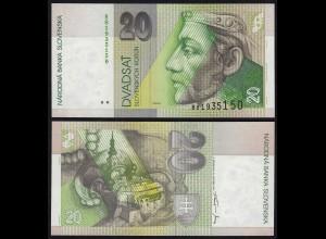 SLOWAKEI - SLOVAKIA 20 Korun Banknoten 1997 Pick 20c UNC (1) (21216