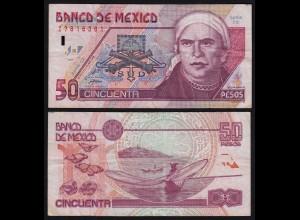 MEXIKO - MEXICO - 50 Peso 1999 Serie CZ Pick 107d F/VF (4/3) (21234