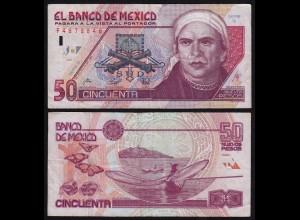 MEXIKO - MEXICO - 50 Peso 1992 Serie Q Pick 101 F/VF (4/3) (21235