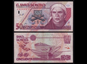 MEXIKO - MEXICO - 50 Peso 1992 Serie AE Pick 101 F/VF (4/3) (21236