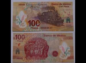 MEXIKO - MEXICO - 100 Peso 2010 Eisenbahn Pick 128 VF (3) (21239