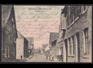 AK Senden Westfalen Münsterstrasse 1907 m. Bahnpost nach Erle (17367