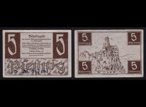 WÜRTTEMBERG 5 Pfennig 1947 Behelfsgeld Ro.214a VF (3) (16418