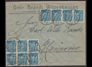 DR Infla Mef. Mi.239 (10) von Witzenhausen - Hannover 29.3.1923 (21678