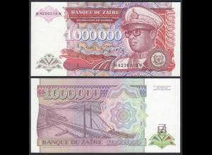 Zaire - 1 Millione Zaires Banknote 1992 Pick 44 UNC (1) (21400