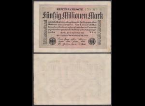 50 Millionen Mark 1923 Ro 108e VF (3) FZ ND-1 Star 6er (27267