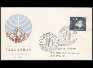 BRD Bund 1957 Mi. 267 FDC Fernsehen (23520