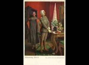 AK Völkerkrieg 1914/15 Na, schöner bin ich nicht geworden (1465