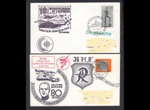 Deutsche Bundeswehr Luftwaffe 2 Briefe 1974 (23853